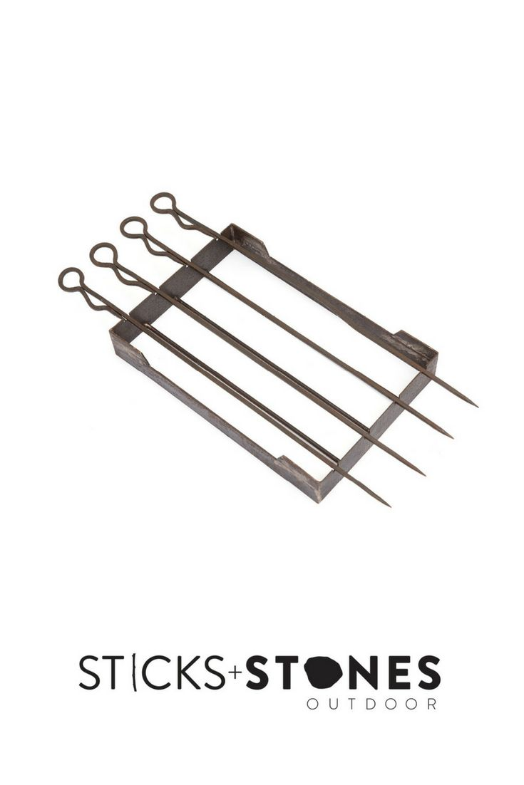 Our Iron Skewers Set is perfect to complete your fire pit and BBQ cooking utensils for an impressive outdoor feast. At Sticks + Stones Outdoor, we travel the globe to source the most stunning, affordable, practical and stylish items to help you create your own beautiful outdoor space.#outdooraccessories#firepits #BBQ #outdoorcooking