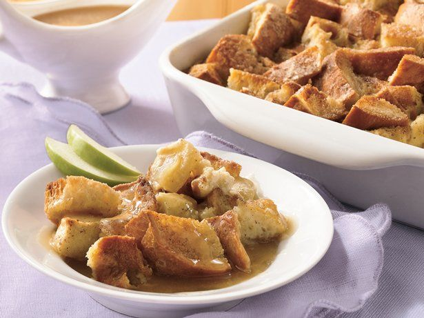 ... kitchen with a comforting bread pudding with a rich caramel sauce