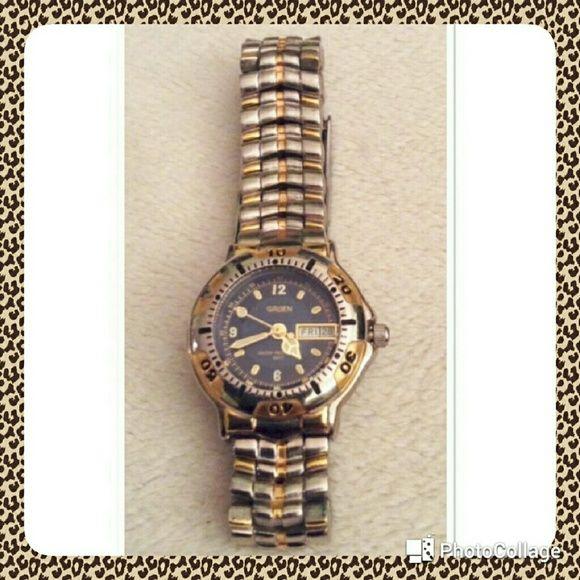 Two tone Gruen Watch Two tone Gruen Watch.  Needs new battery Gruen Accessories Watches