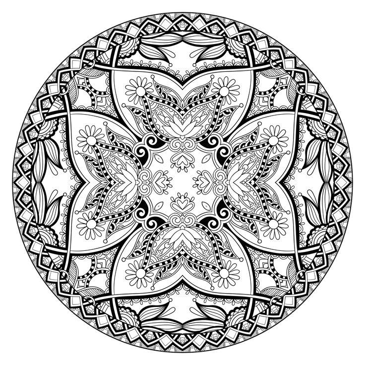 Free Coloring Page Adult Mandala By Karakotsya 2