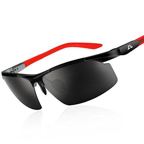 HODGSON Polarized Sports Sunglasses with 5 Interchangeable Lenses for Men Women Cycling Baseball Running Fishing Driving Golf Glasses Tr90 Unbreakable