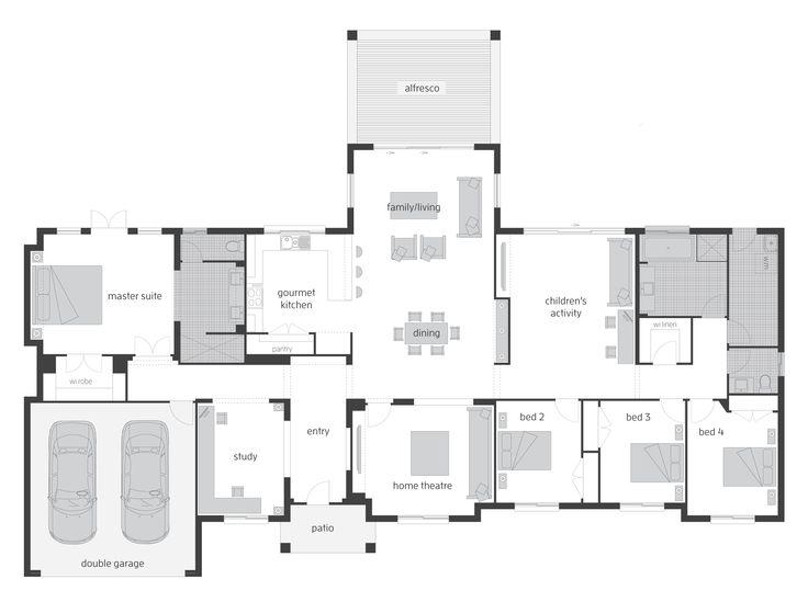 Mornington floor plan by McDonald Jones. Exclusive to Queensland. #floorplan, #housedesigns, #mcdonaldjones