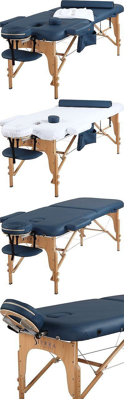 Massage Tables and Chairs: Sierra Comfort All Inclusive Portable Massage Table, Royal Blue BUY IT NOW ONLY: $173.27 #massagechairsportable