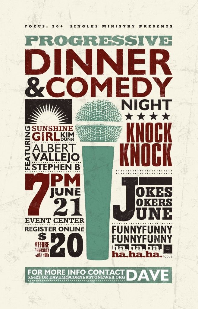 comedy night poster with textures poster ideas