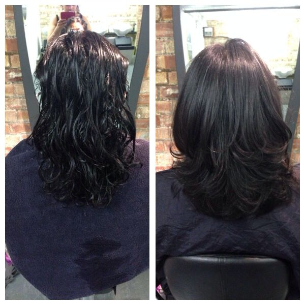 Sarah's over directed layers and bouncy blowdry