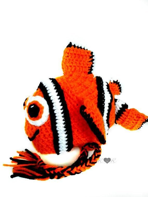 d5f4447ef32c1 Nemo Inspired Hat Crochet Clownfish Hat Nemo Costume