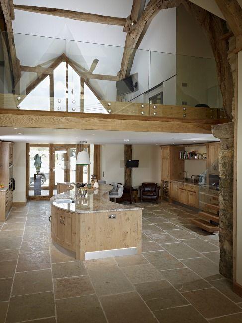 Catspaw Oak Kitchen by Aspect Kitchens, Surrey