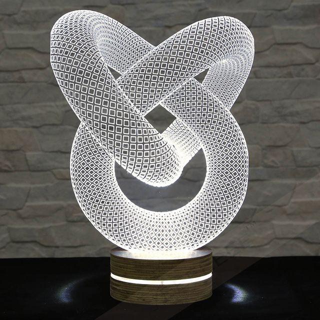 3D llevó la lámpara de la forma del tubo de la lámpara decorativa decoración lámpara de mesa lámpara decoración de la oficina plexiglás Art Deco lámpara de luz nocturna de acrílico