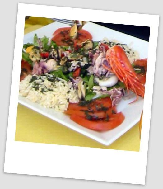 Fruitti di Mare Salad - Fresh Prawn, Squid (Calamari), and mussels ...