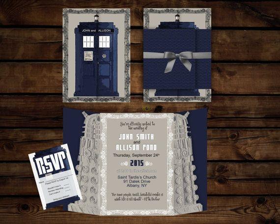 Custom Doctor Who Invitation de mariage SUITE / / par BBannabelle