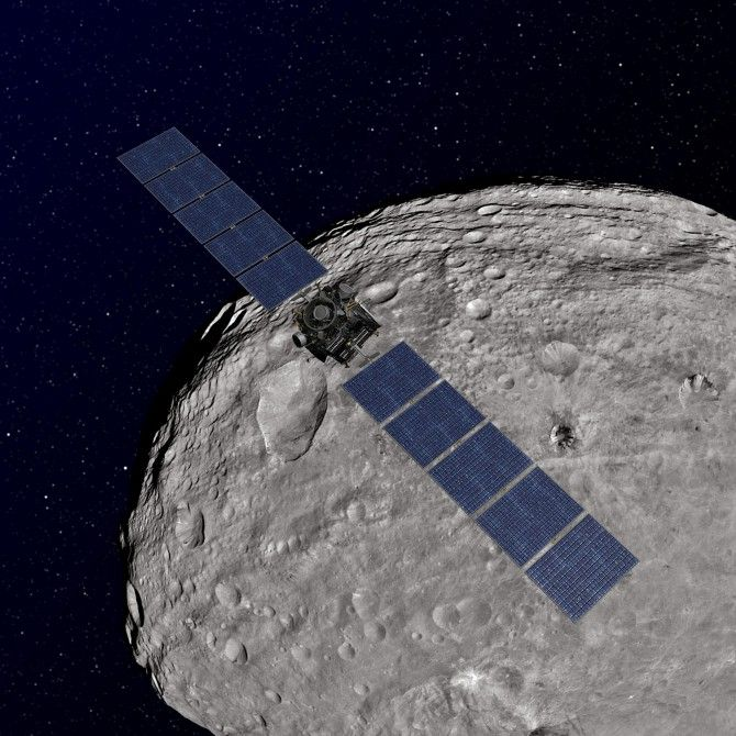 NASA application grants general public the opportunity to explore the surface of Vesta By Anthony Wood 4/28/15 Artist's impression of Dawn orbiting Vesta (Image: NASA)