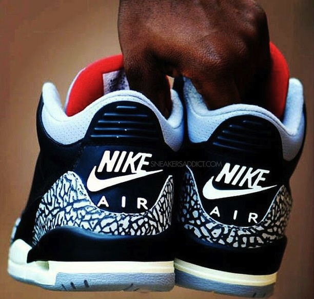 "NICE  Nike Air Jordan 3 ""Black Cement"" Retro 88  Release date: 2013    Source: Sneakers Addict"