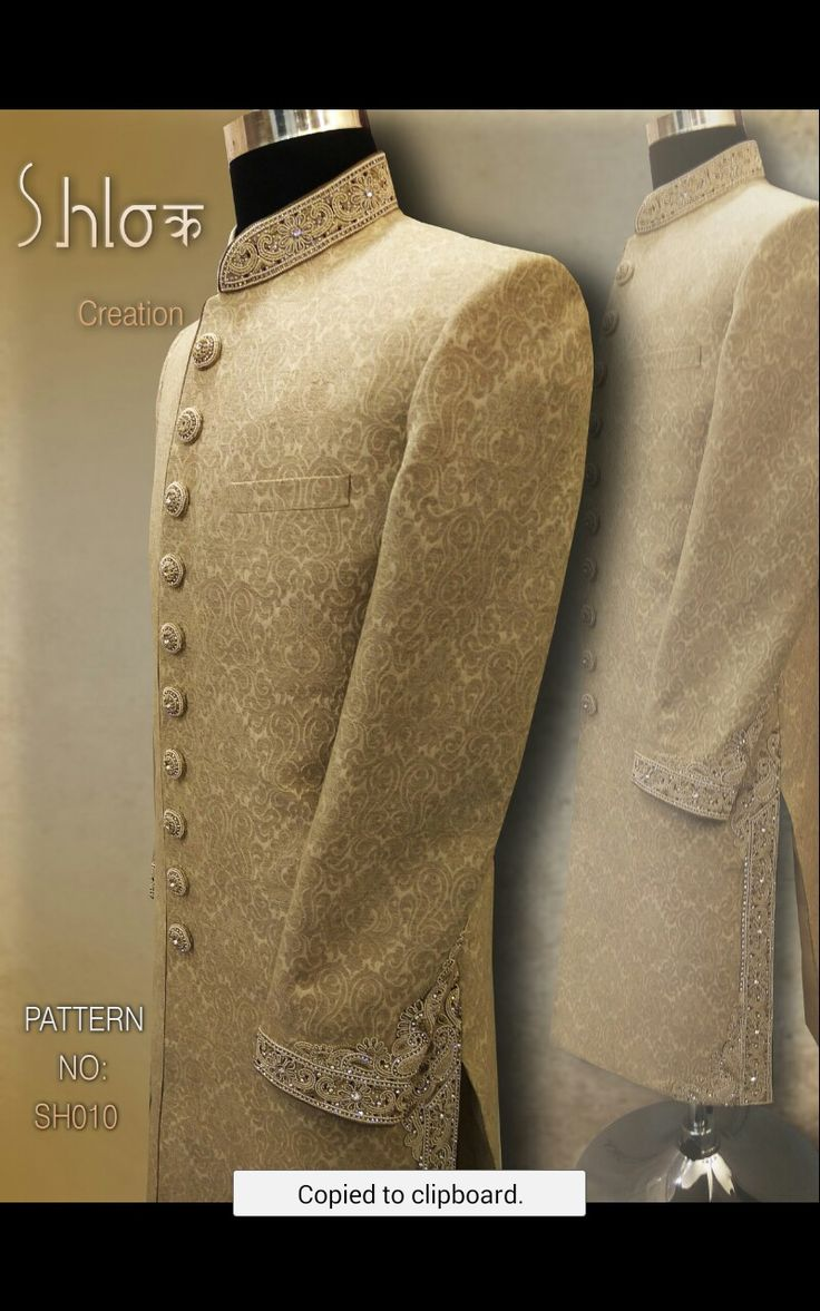 Silk lenin jeqard silk Sherwani for wedding grooms