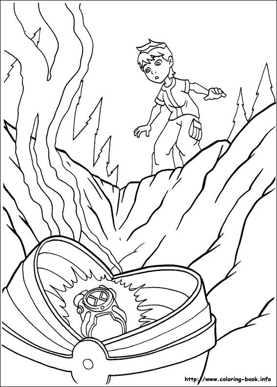 Ben 10 Coloring Pages For Kids 52