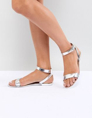 3a4c3c0e863 ASOS DESIGN Felina Jelly Flat Sandals