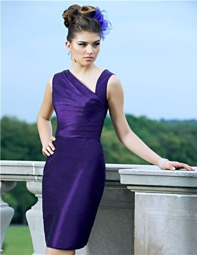 Alexia Designs 4132 Short Asymmetrical Bridesmaid Dress
