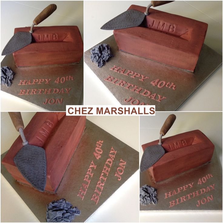 For A Bricklayer A Brick Cake Food 65 Birthday Cake