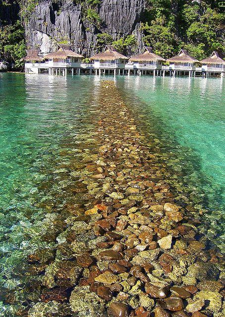 Breakwater, Miniloc Island, El Nido, Philippines.