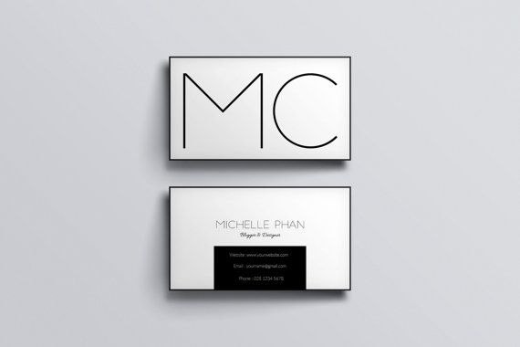 Minimal business card/Black and white/ custom business card/business card design/calling card/ modern business card/card template/printable
