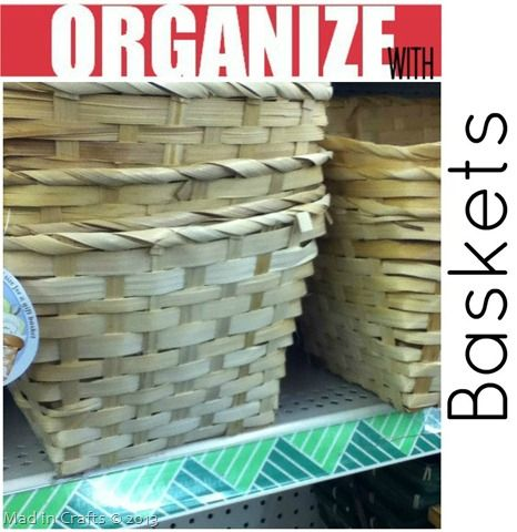 Dollar Store Basket - lots of organization projects...baskets aren't as durable, or cleanable, but they are biodegradable!