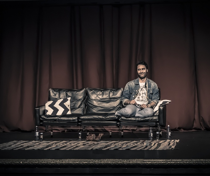 This is Taika Waititi, director of the movie Boy and general aloofness extraordinaire. He was presenting at the design conference We Can Create. Laughs to be had, stories to be heard, obsessions with swastikas confessed.