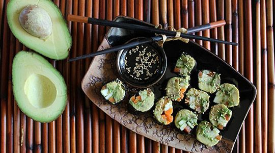 """Veggie """"Sushi"""" Rolls - Thrive 