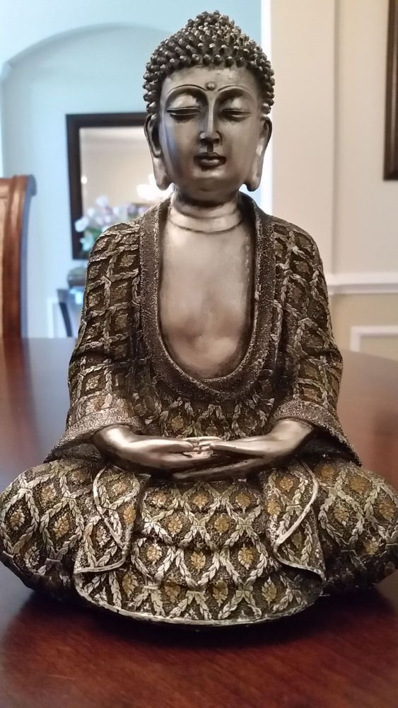 Tranquil Buddha Peaceful Meditating Statue Good Karma Home Decor Tranquility