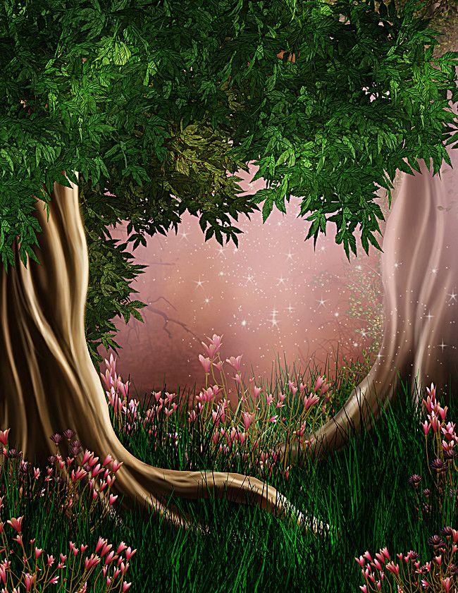 Grimm Cartoon Fresh Background Background Digital Backdrops Beautiful Nature