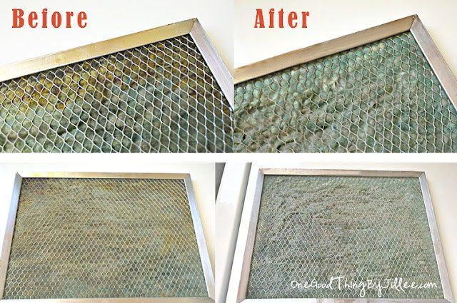 While this may gross you out, how satisfying it is to get things clean! Clean your grimy stove hood filter with this easy solution. Via Jillee