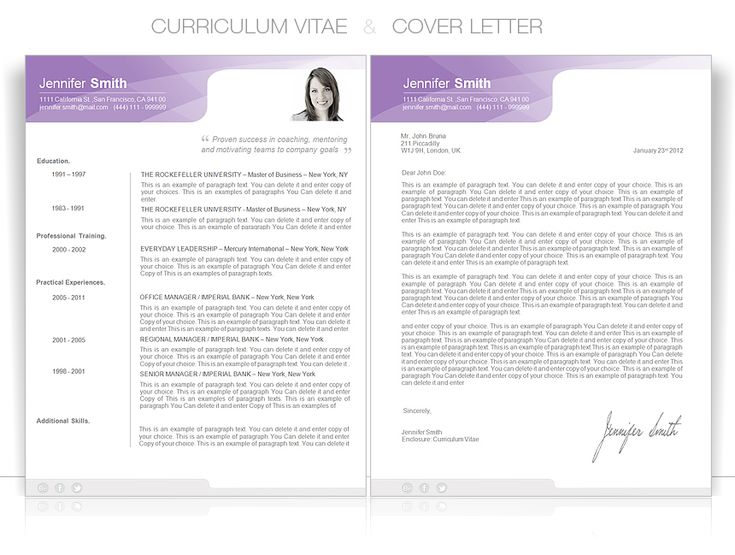 Best Cv Templates  Elegant Images On   Cv Template