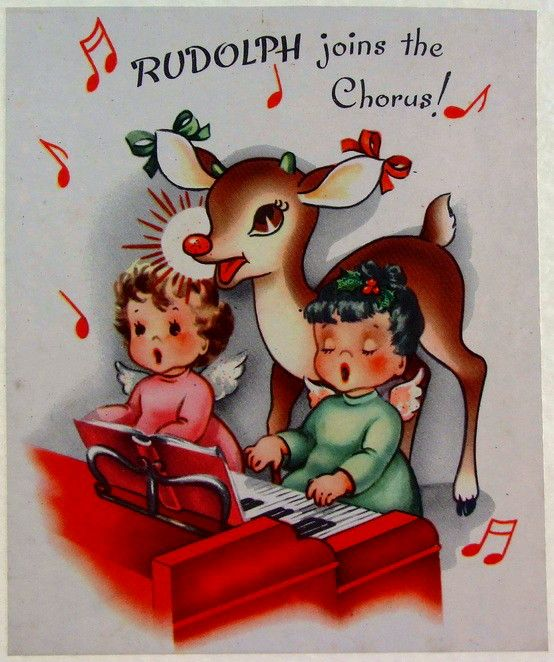 oh what fun | Retro Christmas Cards-Angels & Choirs | Pinterest: pinterest.com/pin/359513982725046349