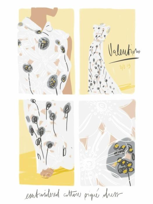 Valentino S/S13.  Open Toe, #fashion illustrated - Opentoeillustration.com