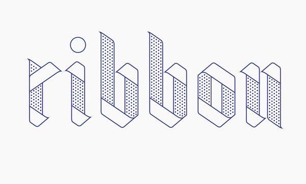 Ribbon Typeface by Julia Agisheva, via Behance