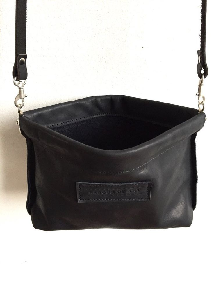 Image of Black Eco Leather Clip Frame Bag, Small Party Purse, Elegant Evening Clutch