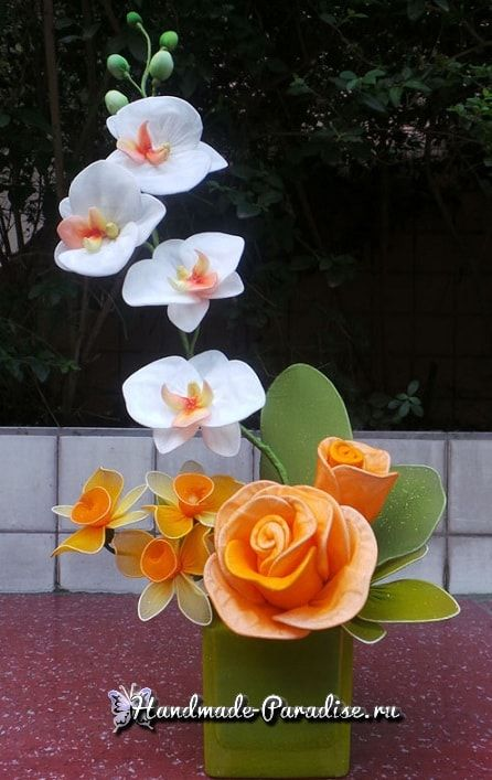 Орхидея Фаленопсис из капрона. Мастер-класс (14)