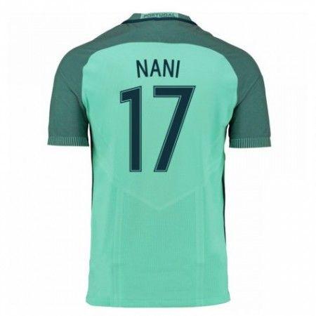 Portugal 2016 Luis Nani 17 Borte Drakt Kortermet.  http://www.fotballpanett.com/portugal-2016-luis-nani-17-borte-drakt-kortermet.  #fotballdrakter