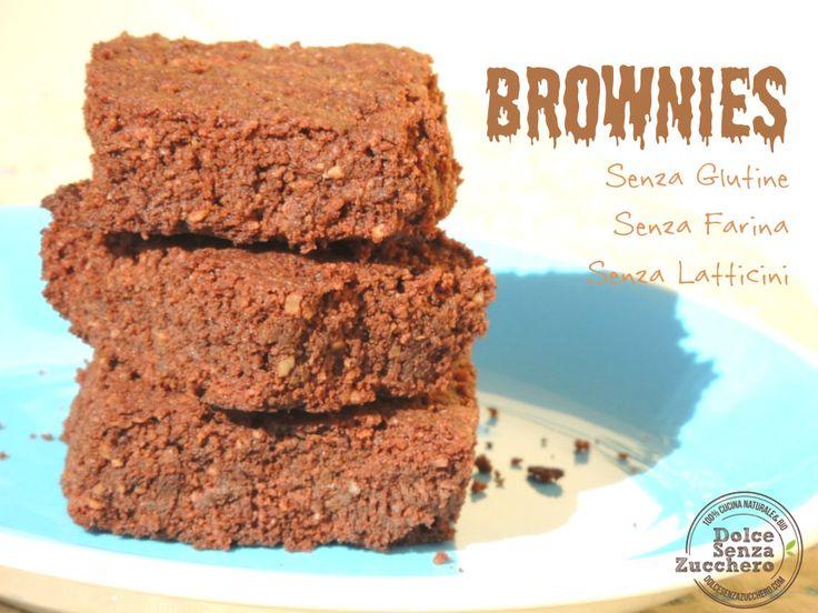 Brownies al Cioccolato e Noci Brasiliane è una ricetta per i brownies al cioccolato Senza Farina, Senza Glutine, Senza Latticini e a basso indice glicemico