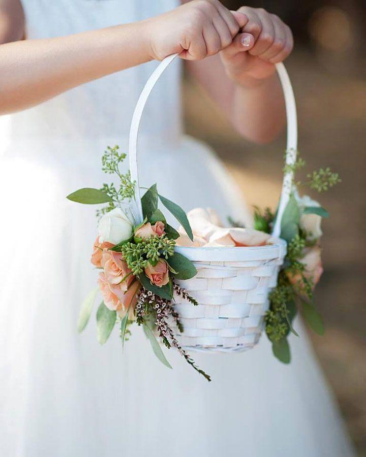 flower girl accesories Basket for flower girl wedding baskets wedding ceremony. Pink basket for wedding flower girl basket pink