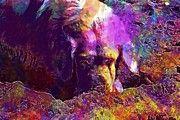 """New artwork for sale! - """" Golden Retriever Dog Beach  by PixBreak Art """" - http://ift.tt/2uVlfLd"""