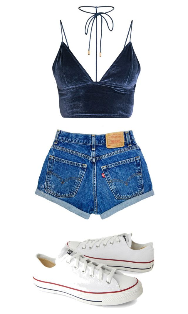 """Untitled #4"" by jaelianav ❤ liked on Polyvore featuring Converse"