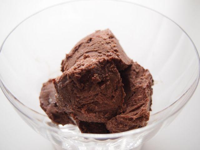 生クリームなし!ヨーグルトとオイルで濃厚でなめらか、ココアのセミフレッド風アイスクリーム