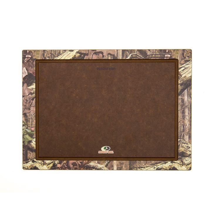 Epicurean Cutting Board with Mossy Oak Print Boarder, 18x13