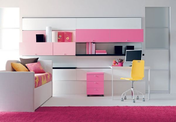 good look for basement study!  http://www.hometrendesign.com/wp-content/uploads/2011/05/pink-study-desk-and-carpet-for-girl-bedroom-ideas-by-doimo-city-line.jpg