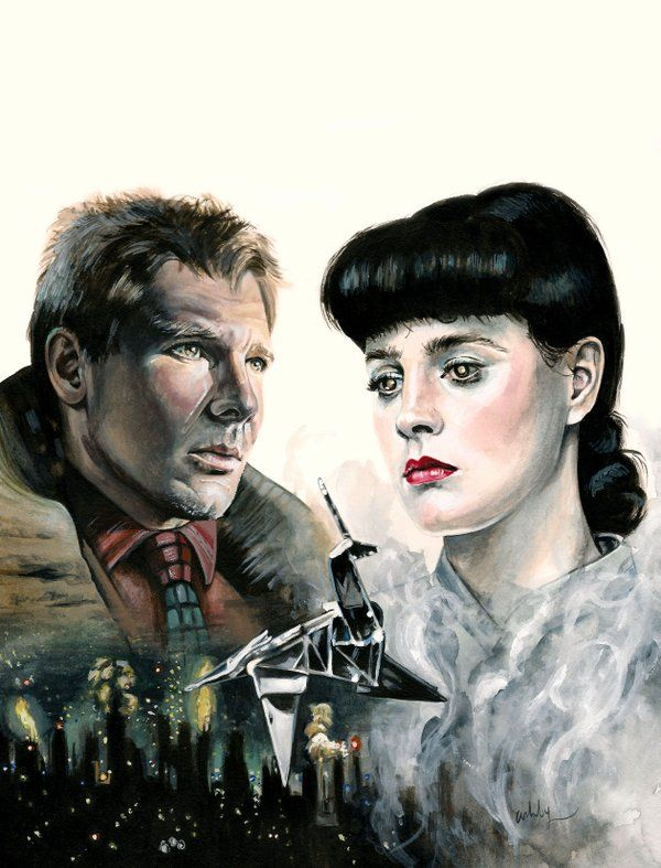 Brianna Ashby painting Blade Runner, for Bright...