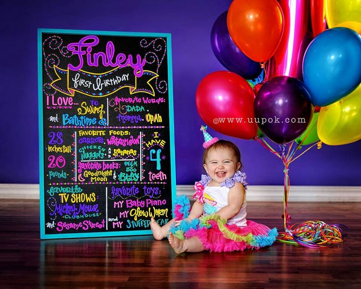 1st birthday board - love this! You could update the board each year & see how your kid's tastes/style has changed :)