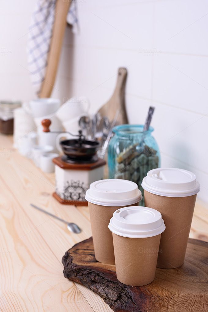 Coffee to go by Iuliia Leonova on @creativemarket