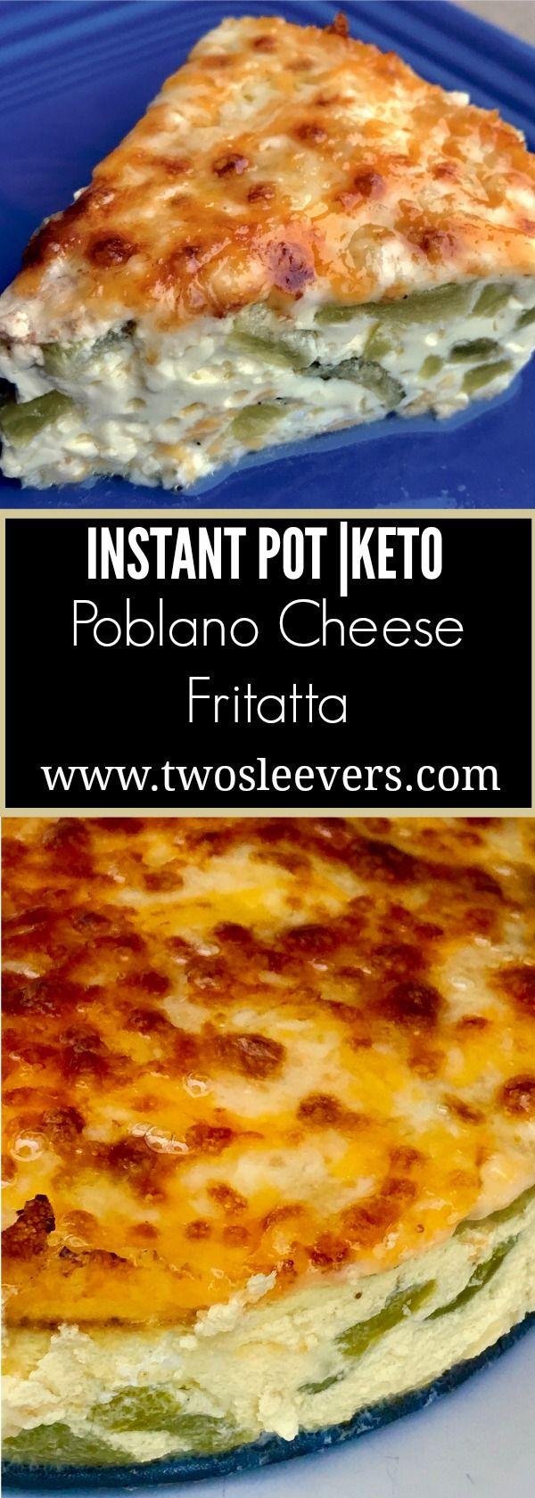 Pressure Cooker Keto Poblano Cheese Quiche. Fluffy… (Paleo Casserole Crockpot)