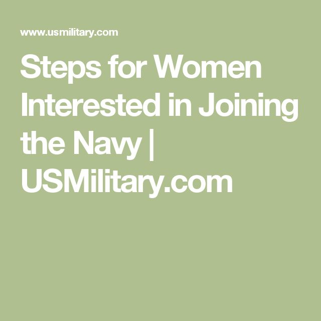 Steps for Women Interested in Joining the Navy | USMilitary.com