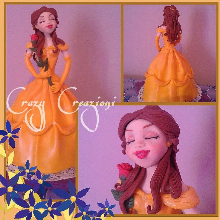 Cake topper Bell Disney in fimo by crazy creazioni