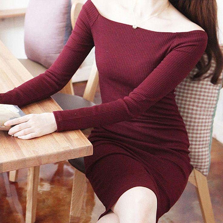 BEFORW Long Sleeve Winter Autumn Dress Fashion Cotton Maxi Dresses Plus Size Women Clothing Sexy Black Red Gary Bodycon Dress